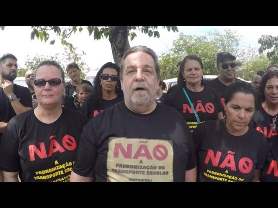 CARREATA TRANSPORTE ESCOLAR RJ - DIGA NÃO A PADRONIZAÇÃO (SINPRATERJ) - 15/10/16