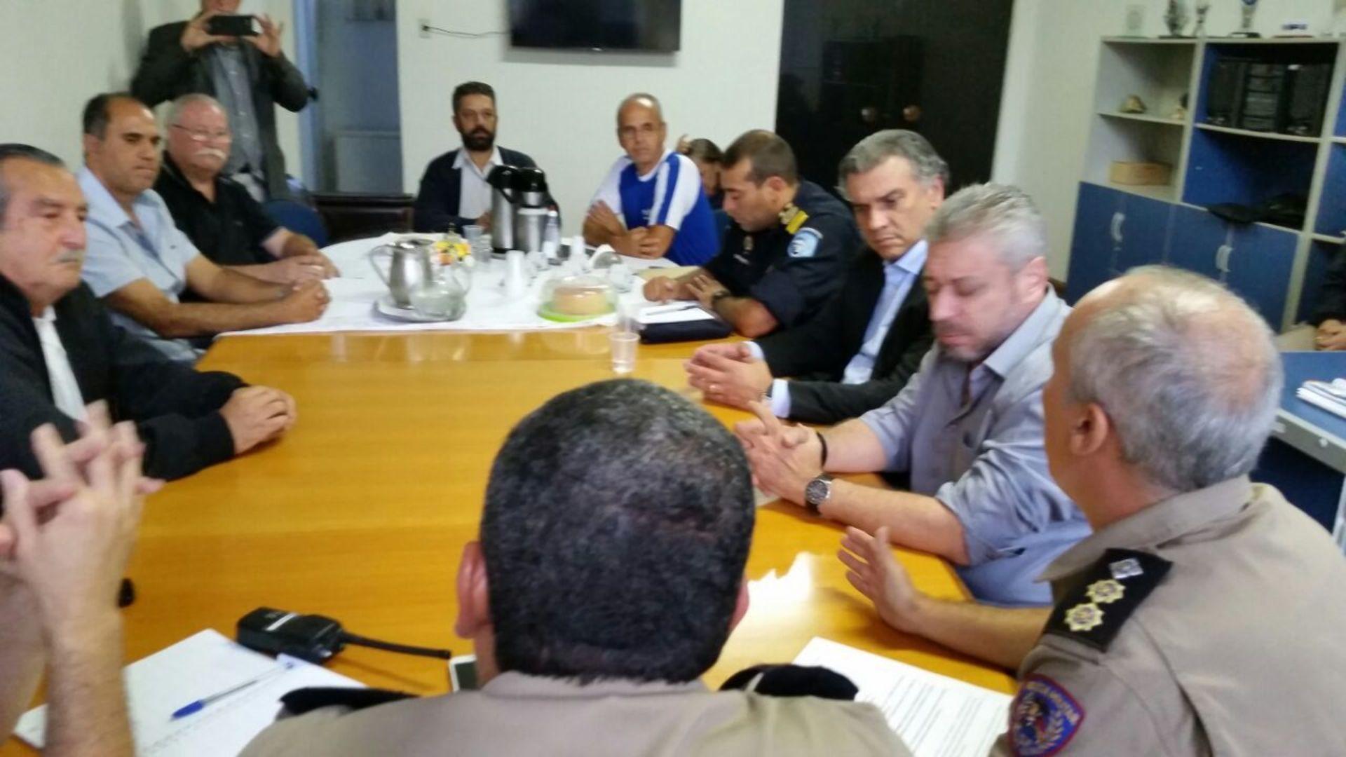 Reunião que antecedeu a ação contra os clandestinos