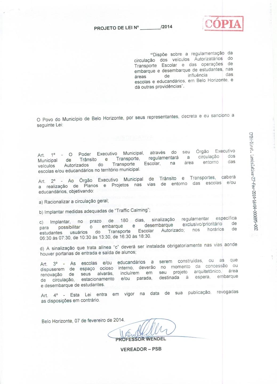 REGULAMENTAÇÃO DE VAGAS EM PORTA DE ESCOLA