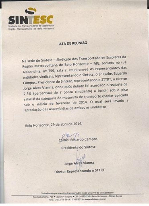 CONVENÇÃO COLETIVA 2014/2015