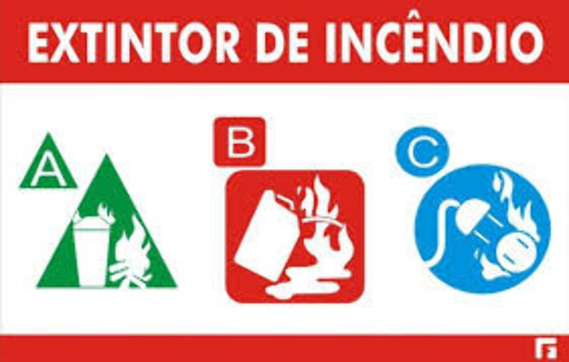 NOVO EXTINTOR DE INCÊNDIO ABC
